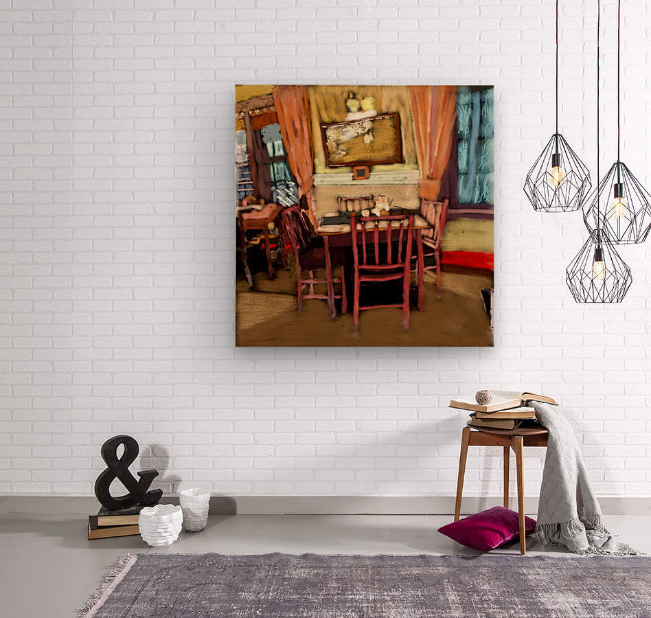 The Hedges Dining Room  Wood print