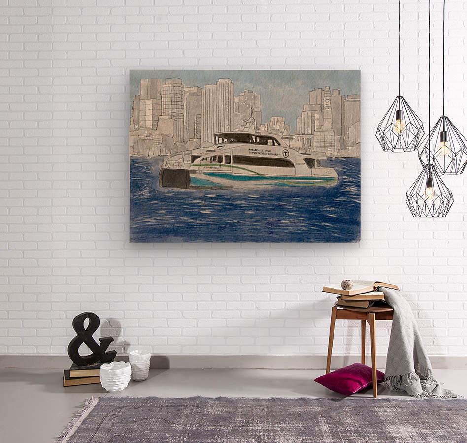 MBTA Hingham-Hull Ferry  Wood print