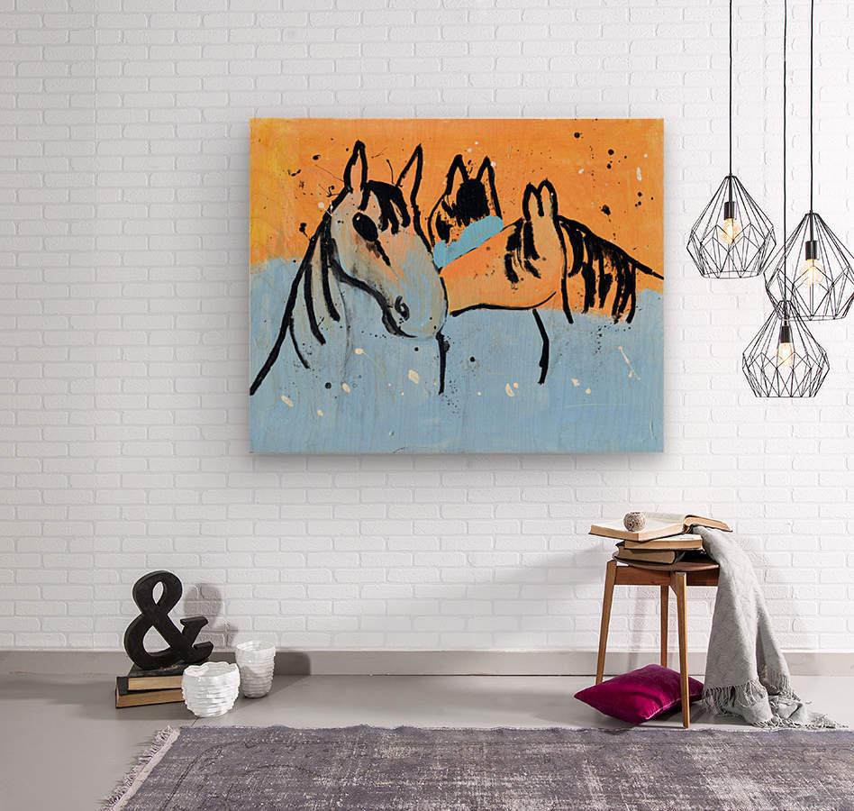 Horses.Davey K.  Wood print
