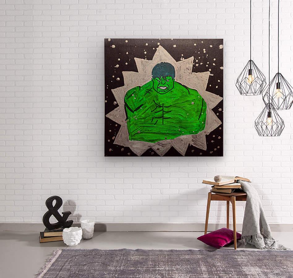 Hulk. Brandon C  Wood print