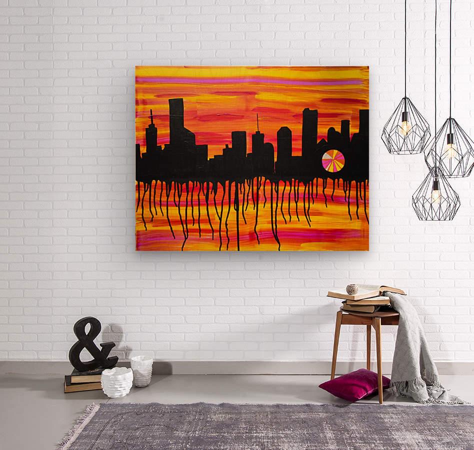 Melting City. Maggie Z  Wood print