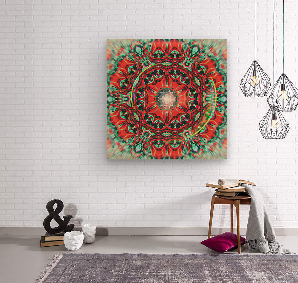 Abstract Mandala I  Wood print
