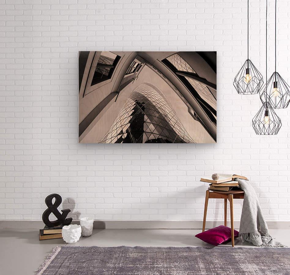 Gherkin  Wood print