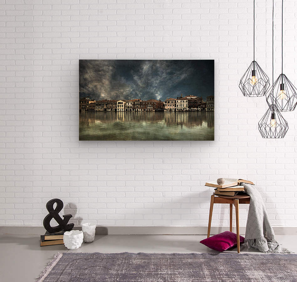 Reflections in Venice  Wood print