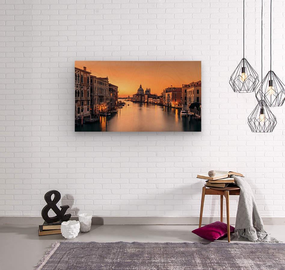 Dawn on Venice  Impression sur bois