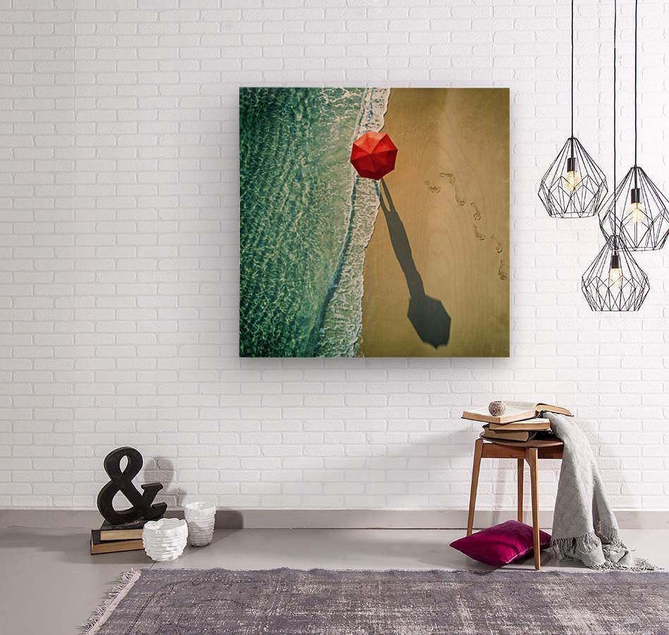 . deep water .  Wood print