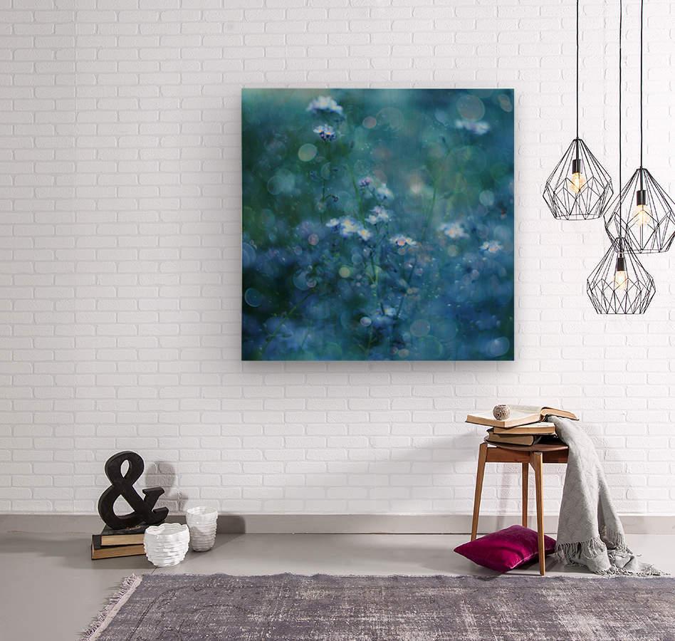 Blue Serenity  Wood print