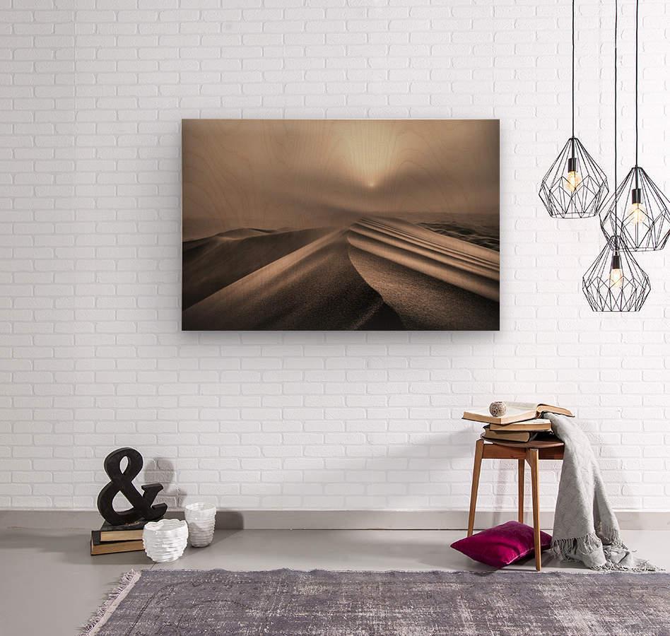 The perfect sandstorm  Wood print
