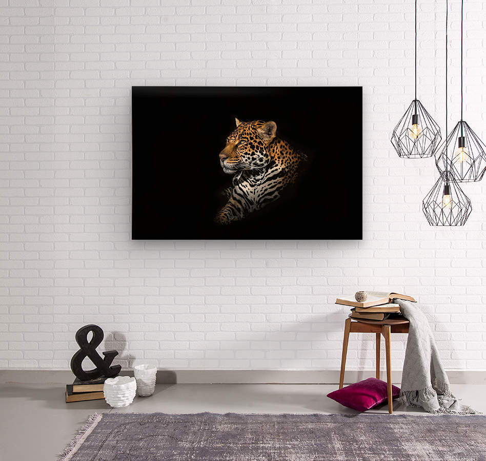 Jaguar Portrait  Wood print