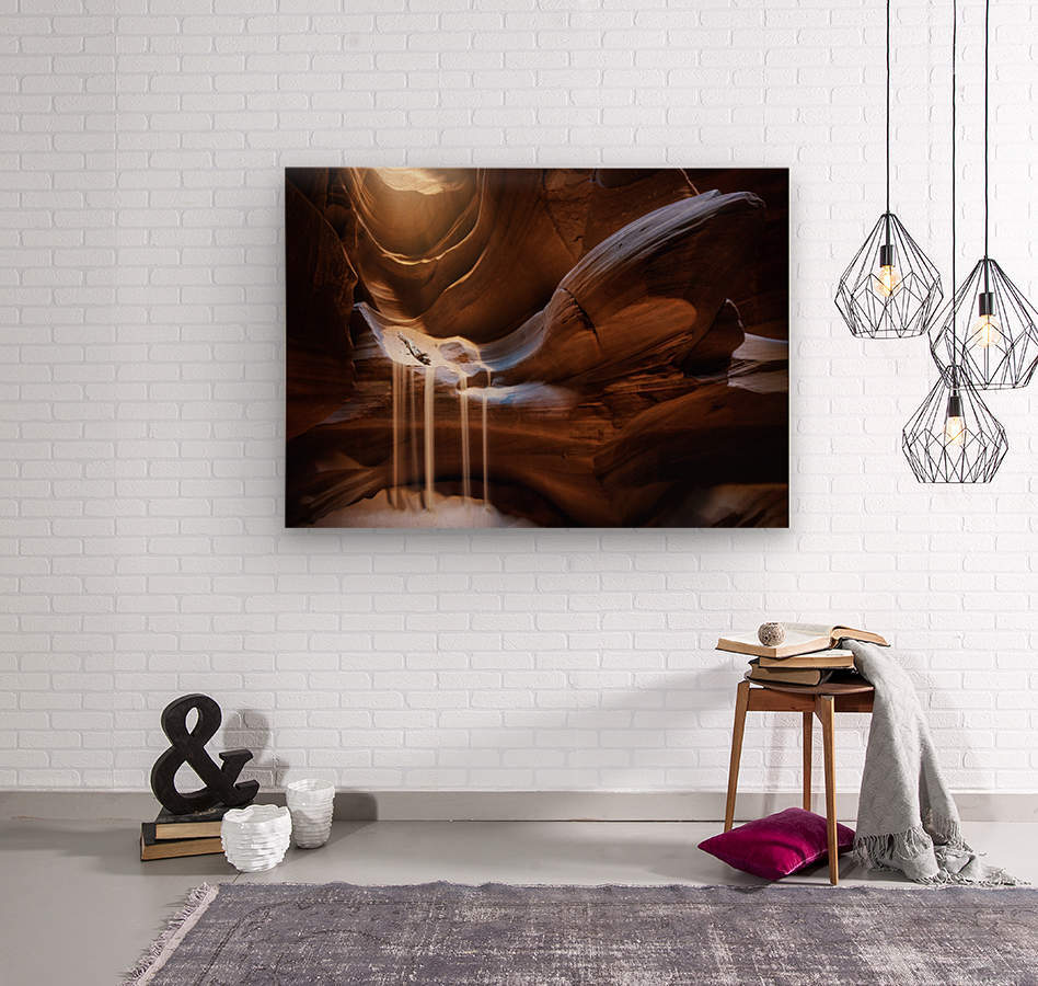 Antelope Waterfall  Wood print