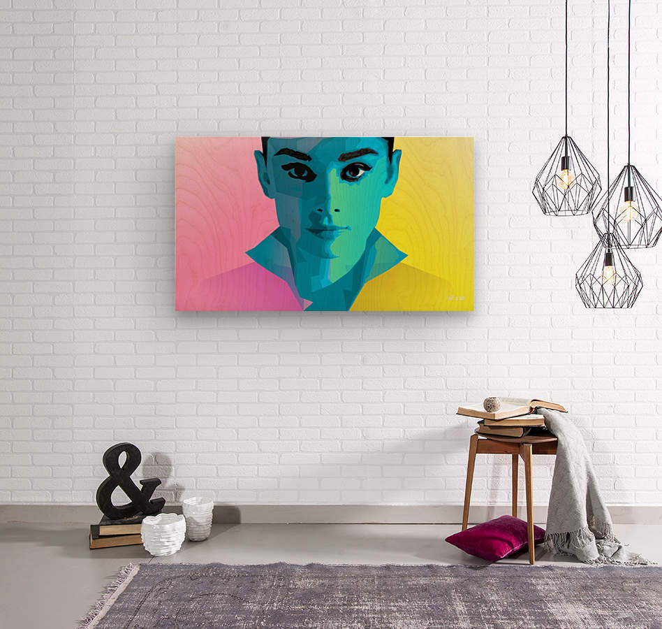Pop Art Audrey Portrait  Wood print