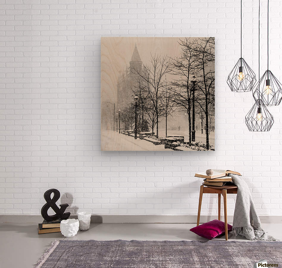 Gooderham in Winter  Wood print