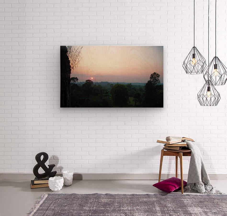 Sunset43  Wood print