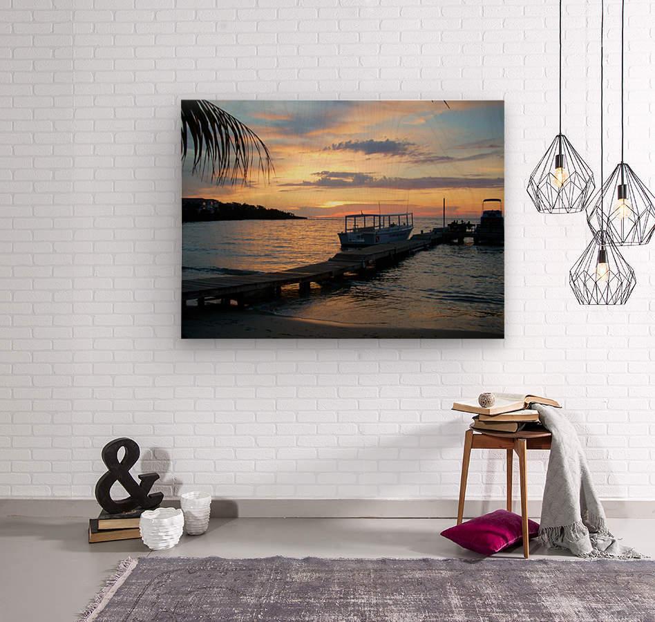 Sunset15  Wood print