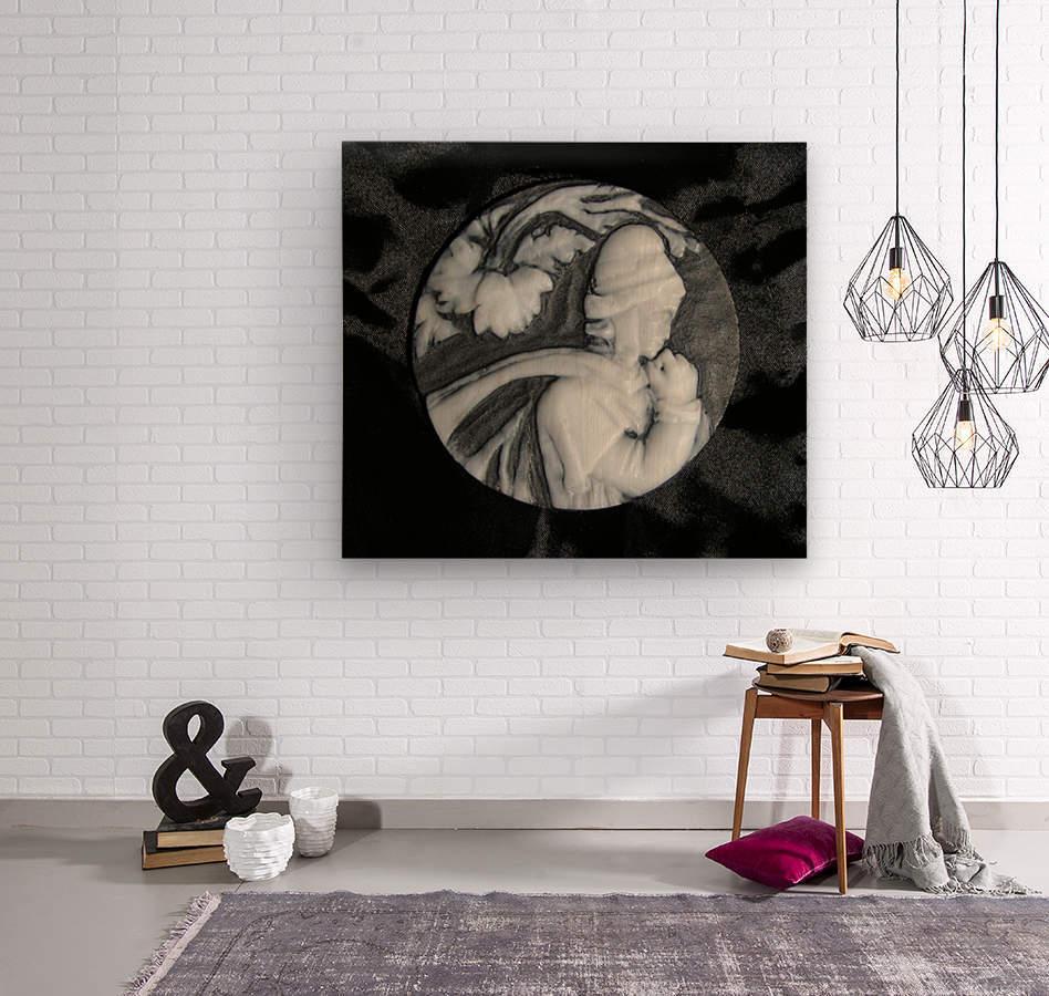 Cameo glass disc   Wood print