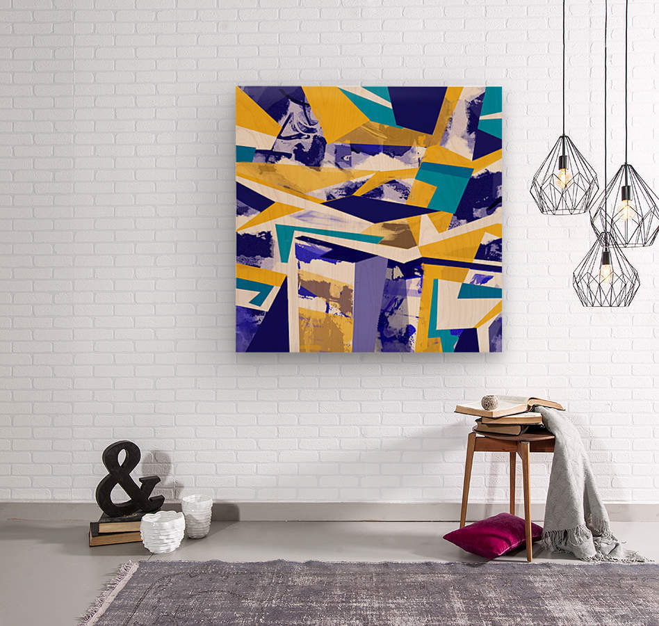 yellowblue  Wood print