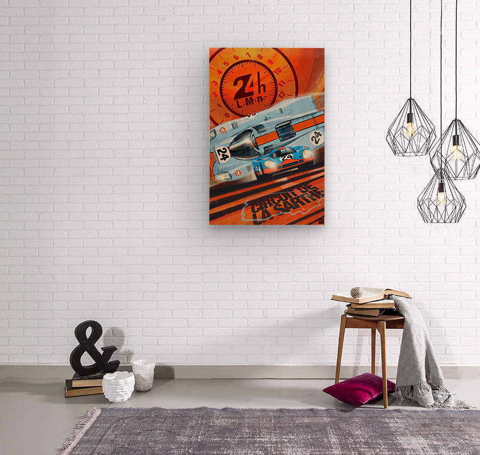 leMans  Wood print