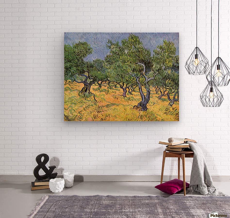 Olive Trees by Van Gogh  Wood print