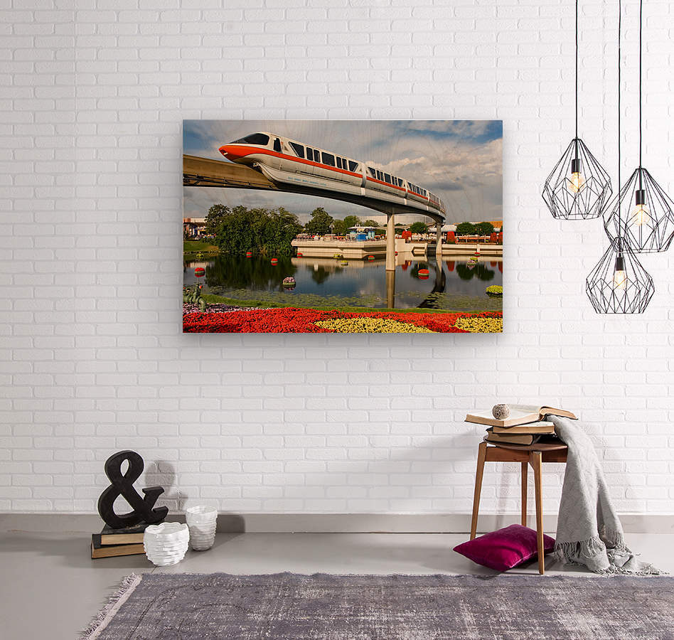 EPCOT Monorail  Wood print