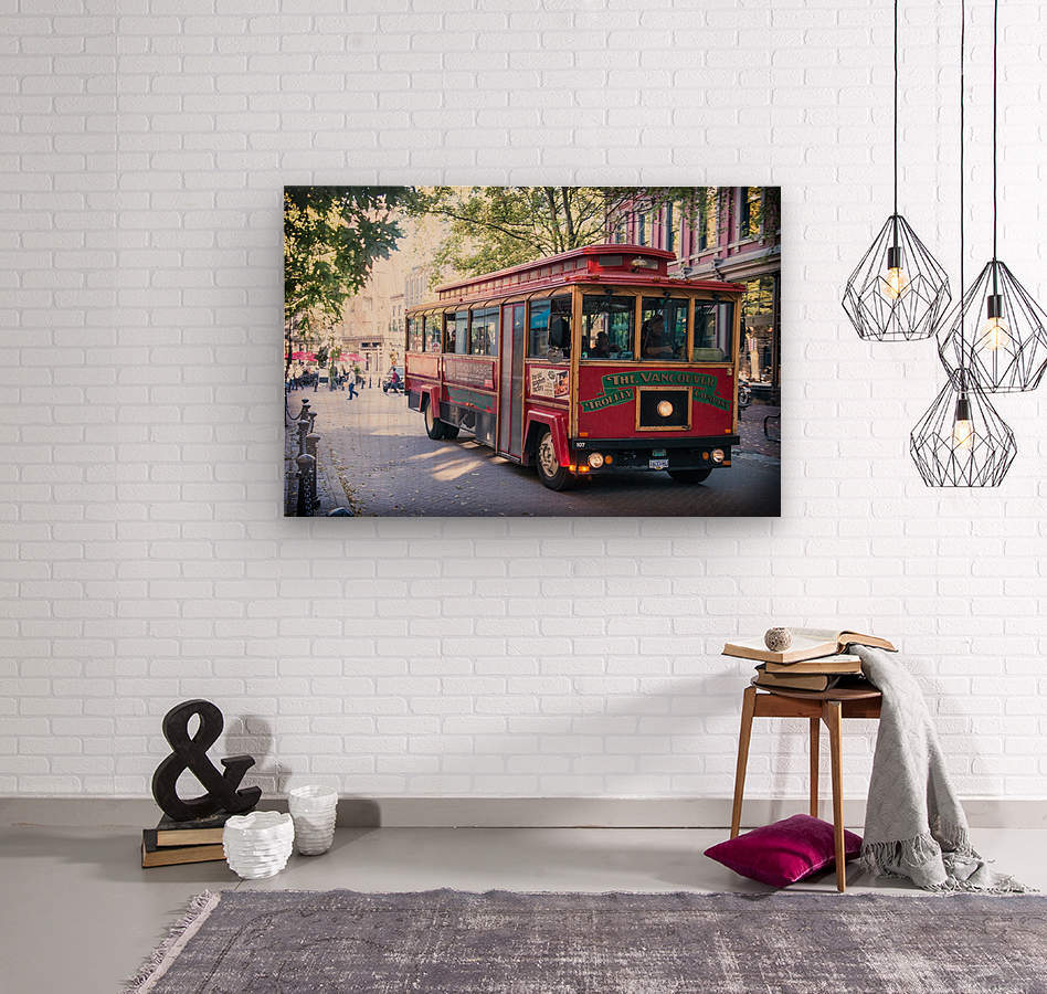 Vancouver Trolly  Wood print