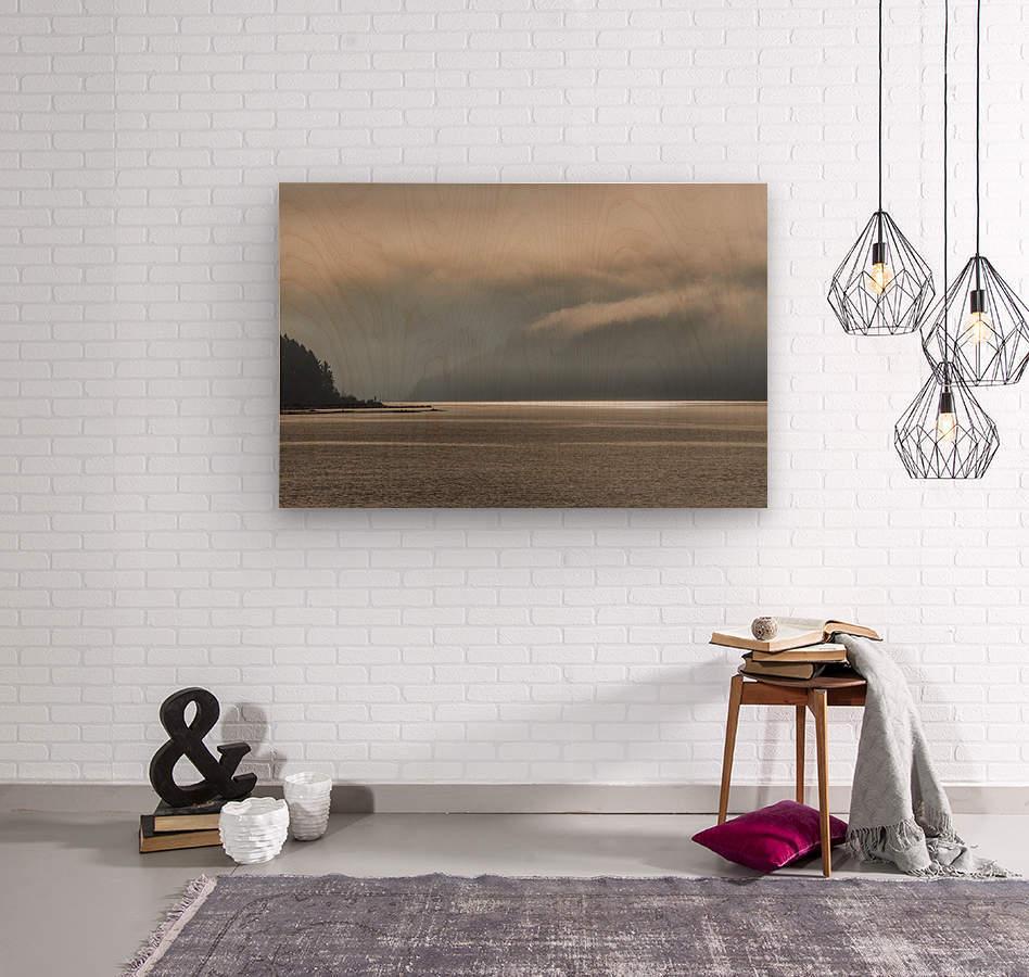 Alberni fog  Wood print