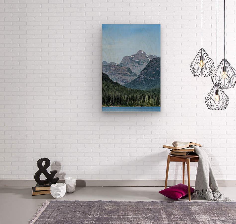 Peaks of Strathcona park  Impression sur bois