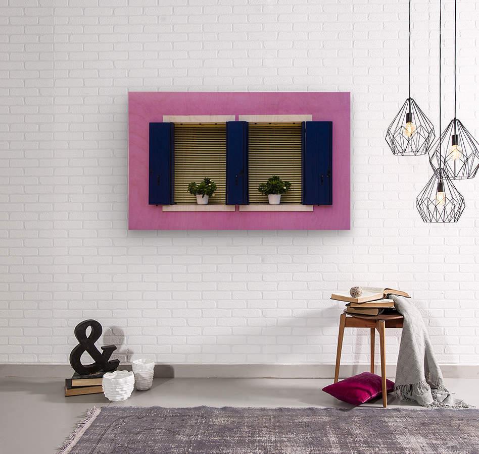 Windows in Burano  Wood print