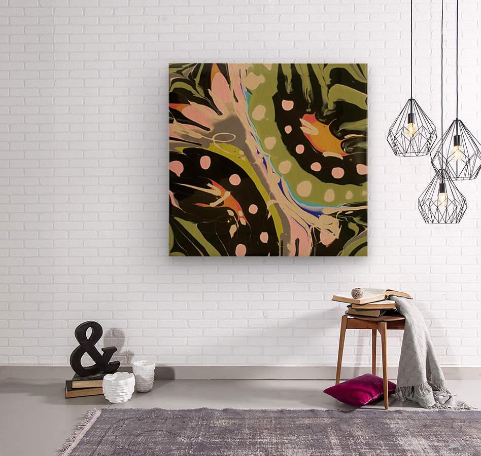 Tropical Branch Bamboo  Wood print