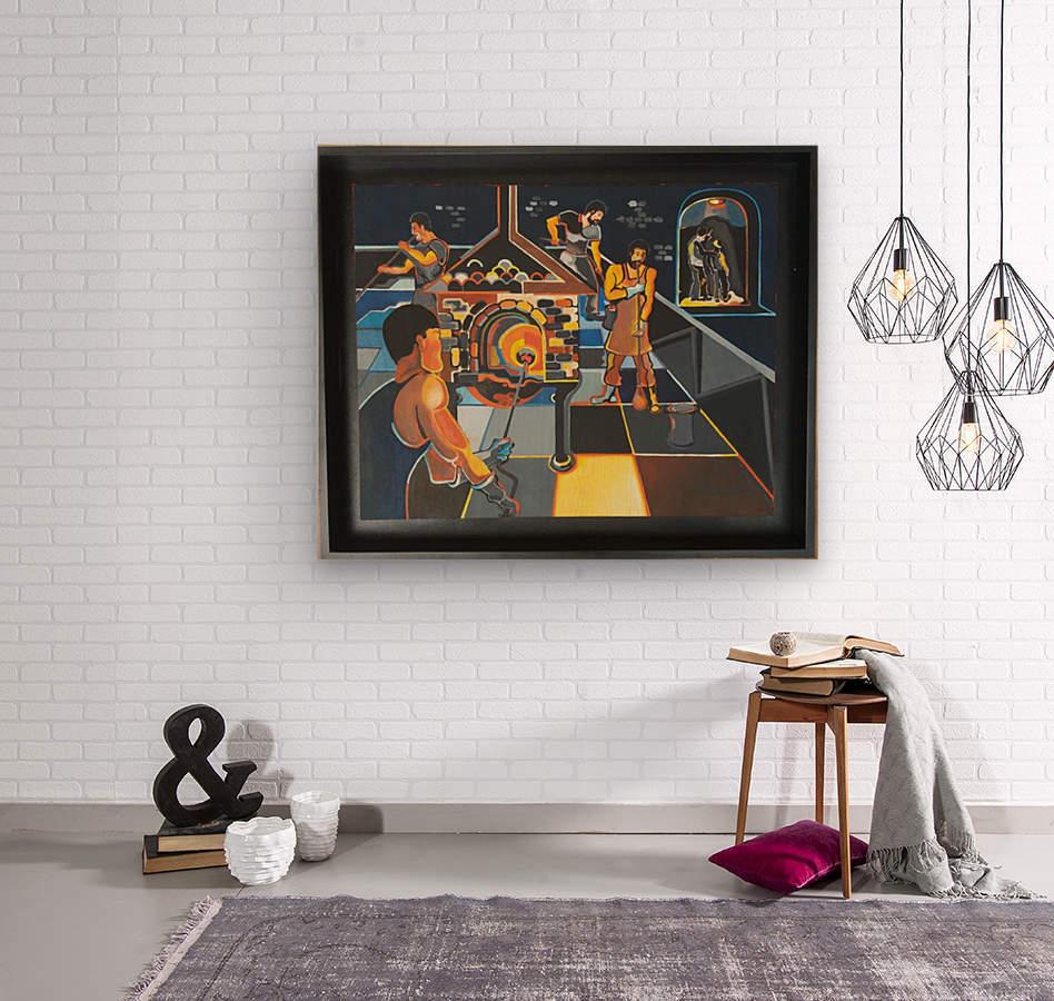 La verrerie   Wood print
