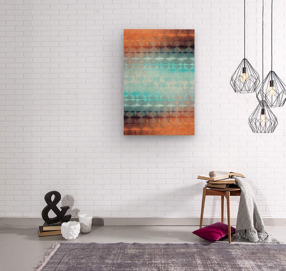 Geometric Pattern  Wood print