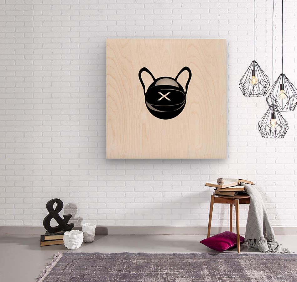Cozmo Black  Wood print