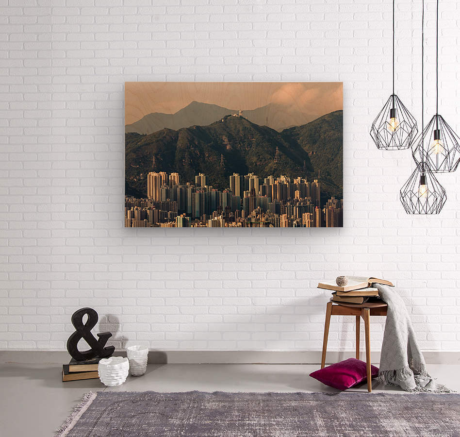 HONG KONG 06  Wood print