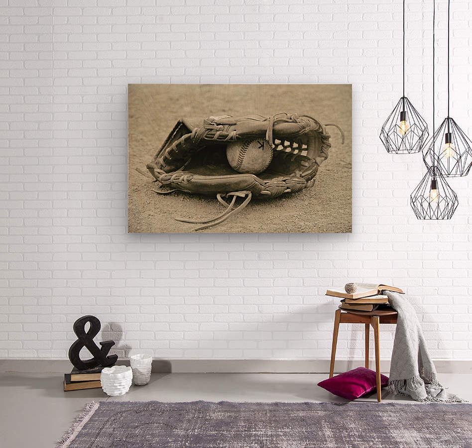 First Love 3 in Sepia  Wood print