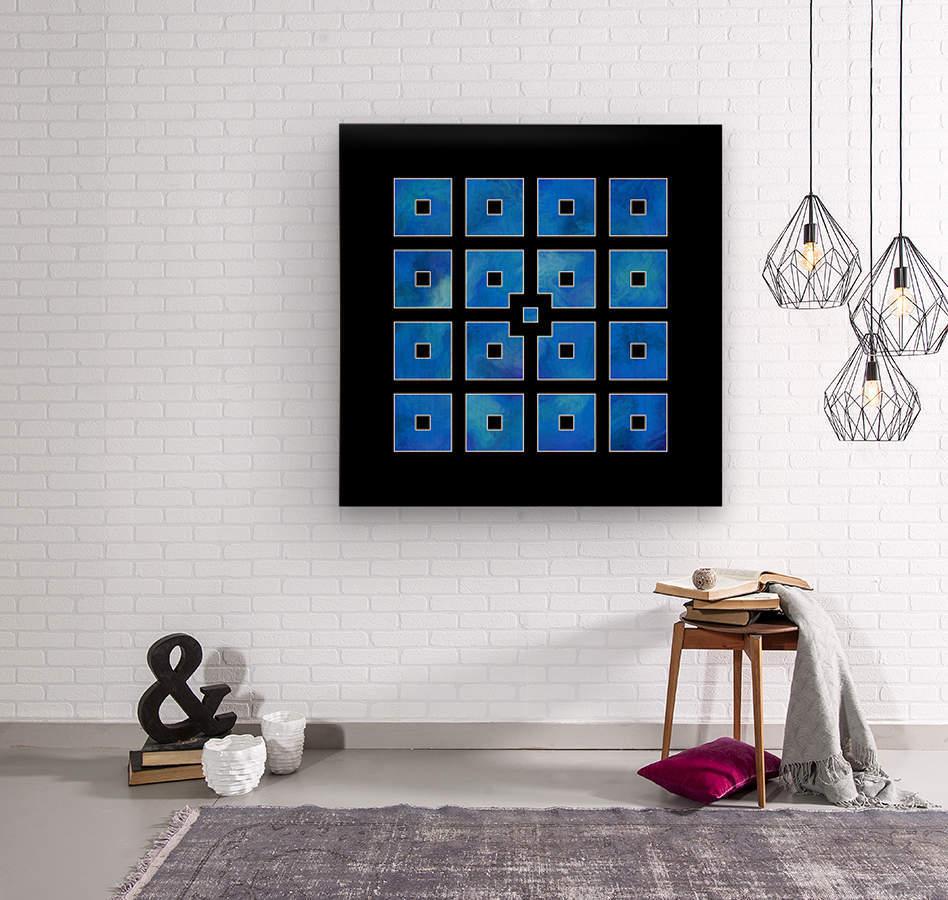 Elora de sous - squares of sea  Wood print
