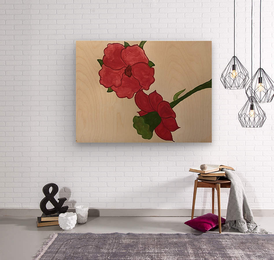 A Floral Dream  Wood print