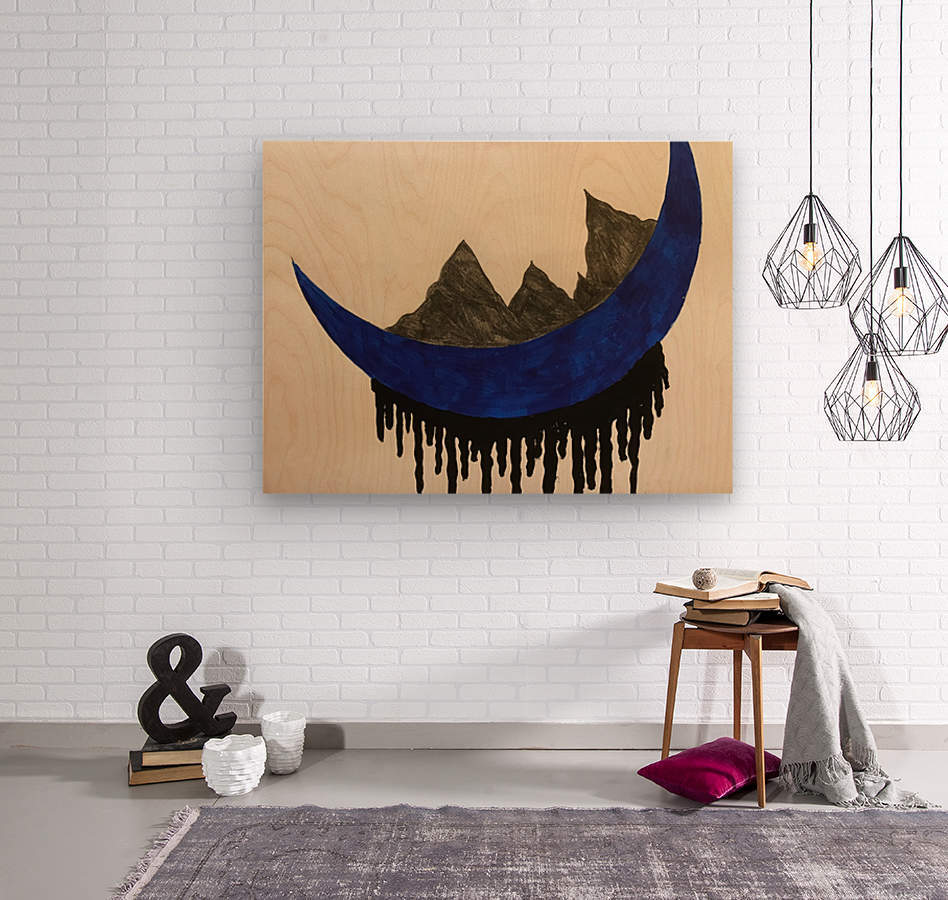 Mountains on the Moon  Wood print