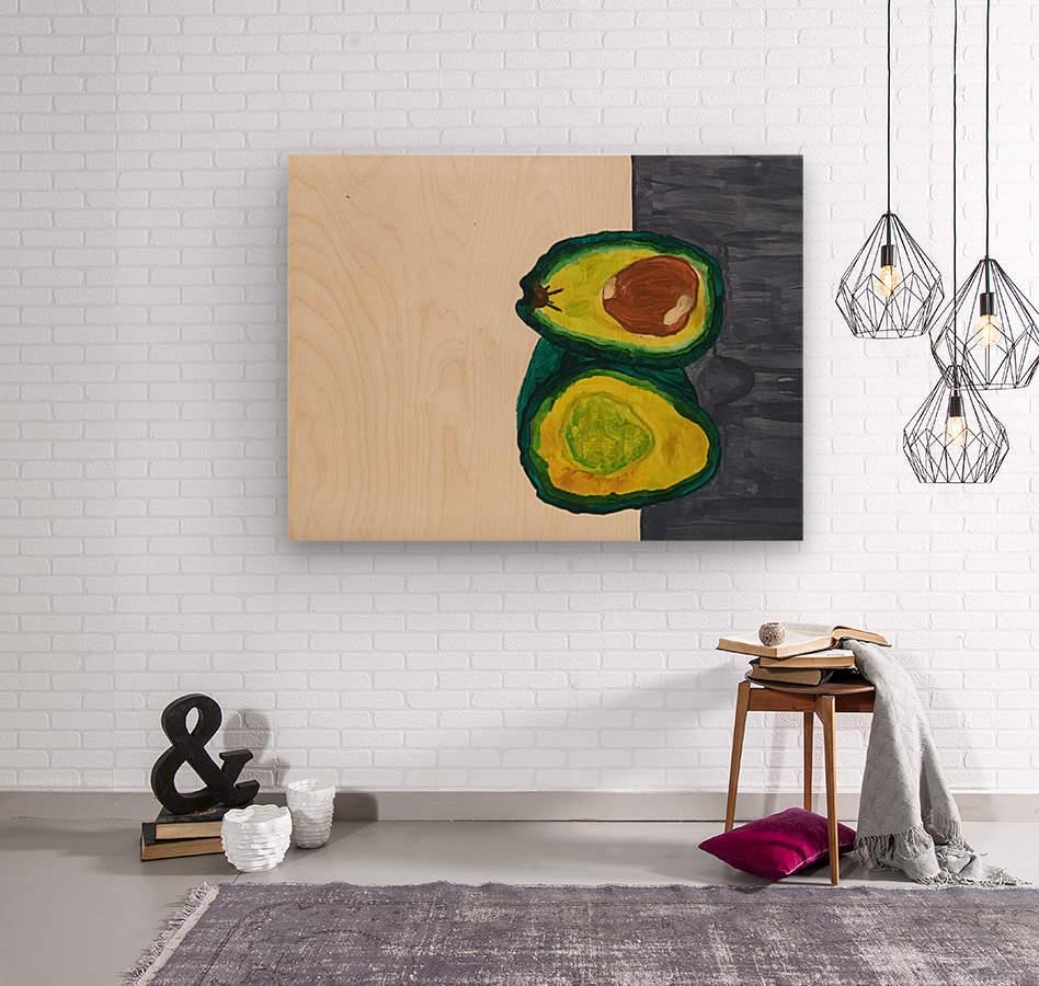 Ripe Avocados  Wood print