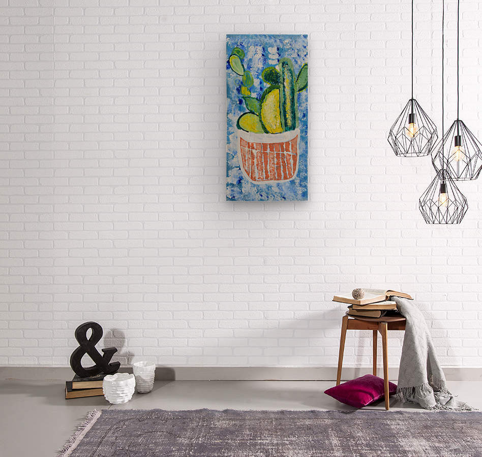 Bluebonnet cactus. Molly H  Wood print