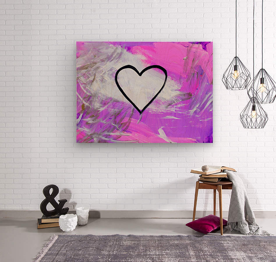 Love is a Feeling. Jessica B  Wood print