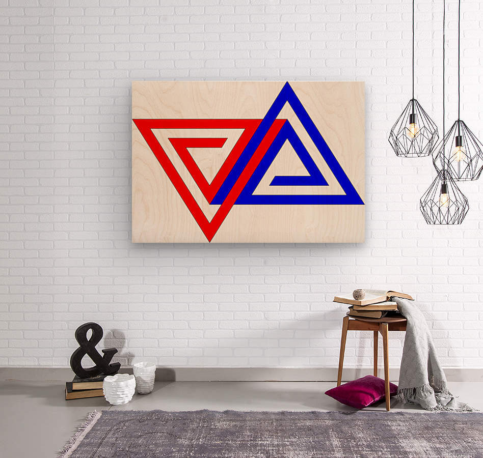Halimessa - connected triangles  Wood print