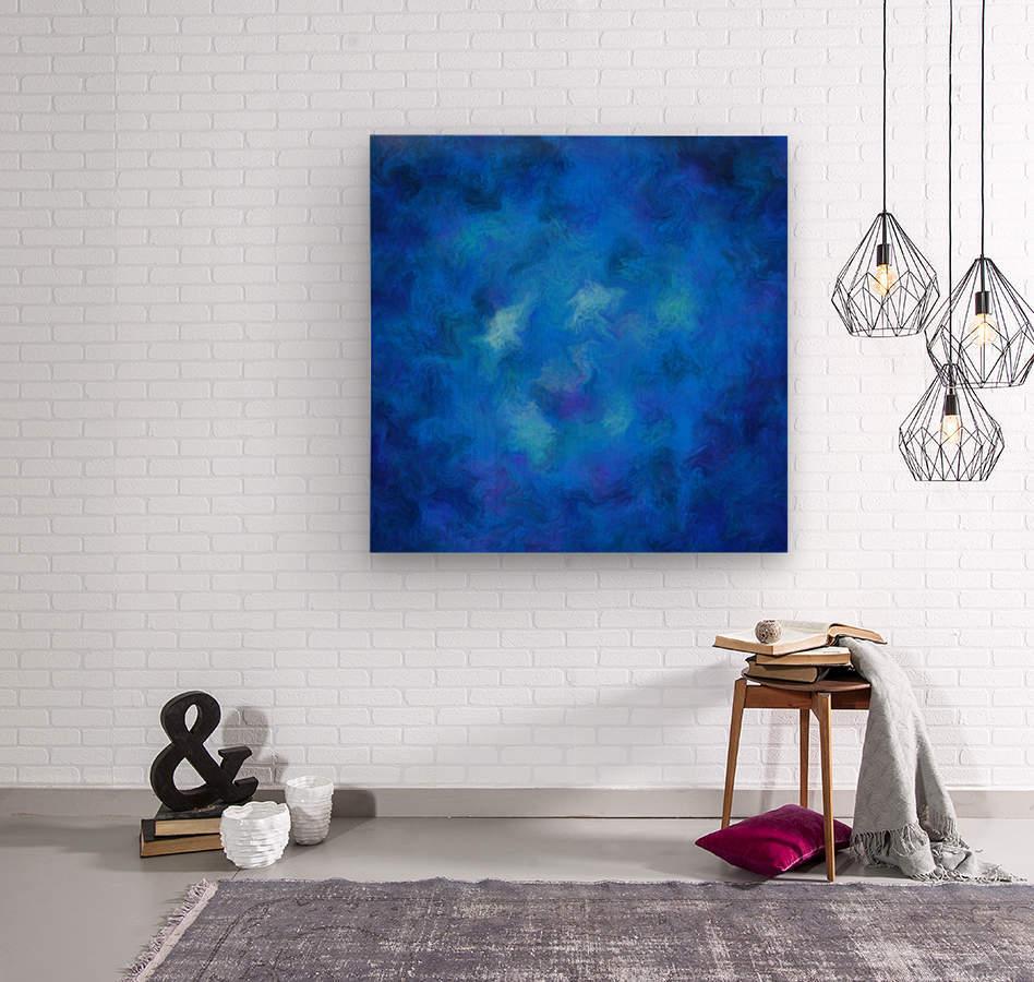 Denitamessa - deep blue world  Wood print