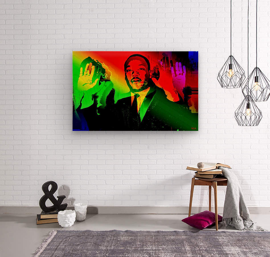 Martin Luther King - Dont Shoot - by Neil Gairn Adams  Wood print