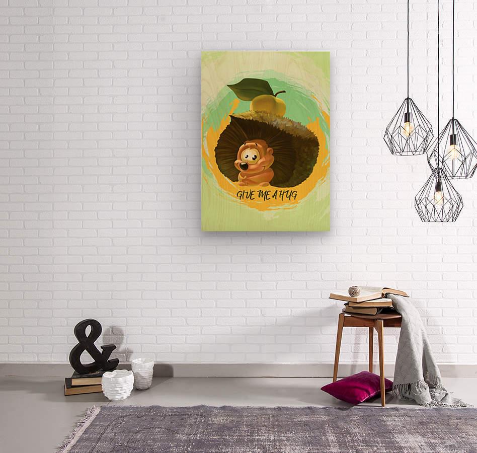 Cute Hedgehog  Wood print