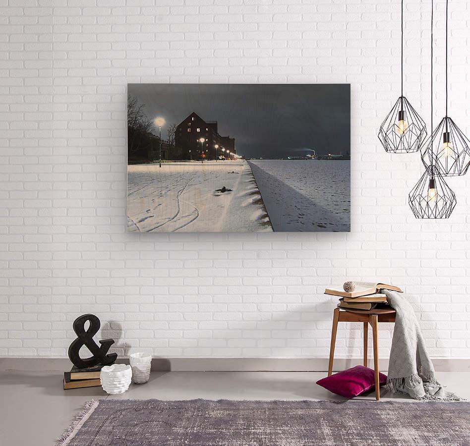 Forzen canal in Copenhagen  Wood print