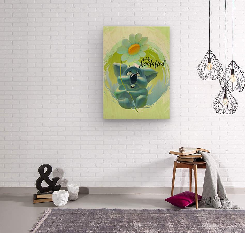 Cute Koala  Wood print