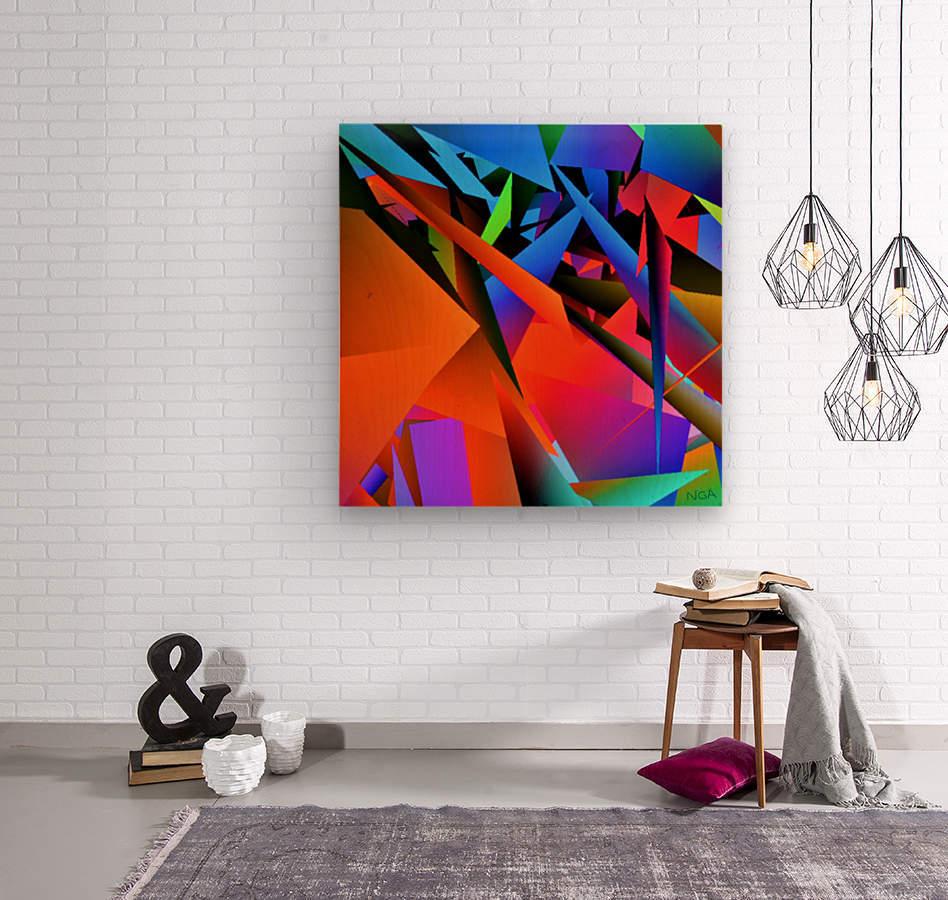 Dimensions -  bY Neil Gairn Adams   Wood print