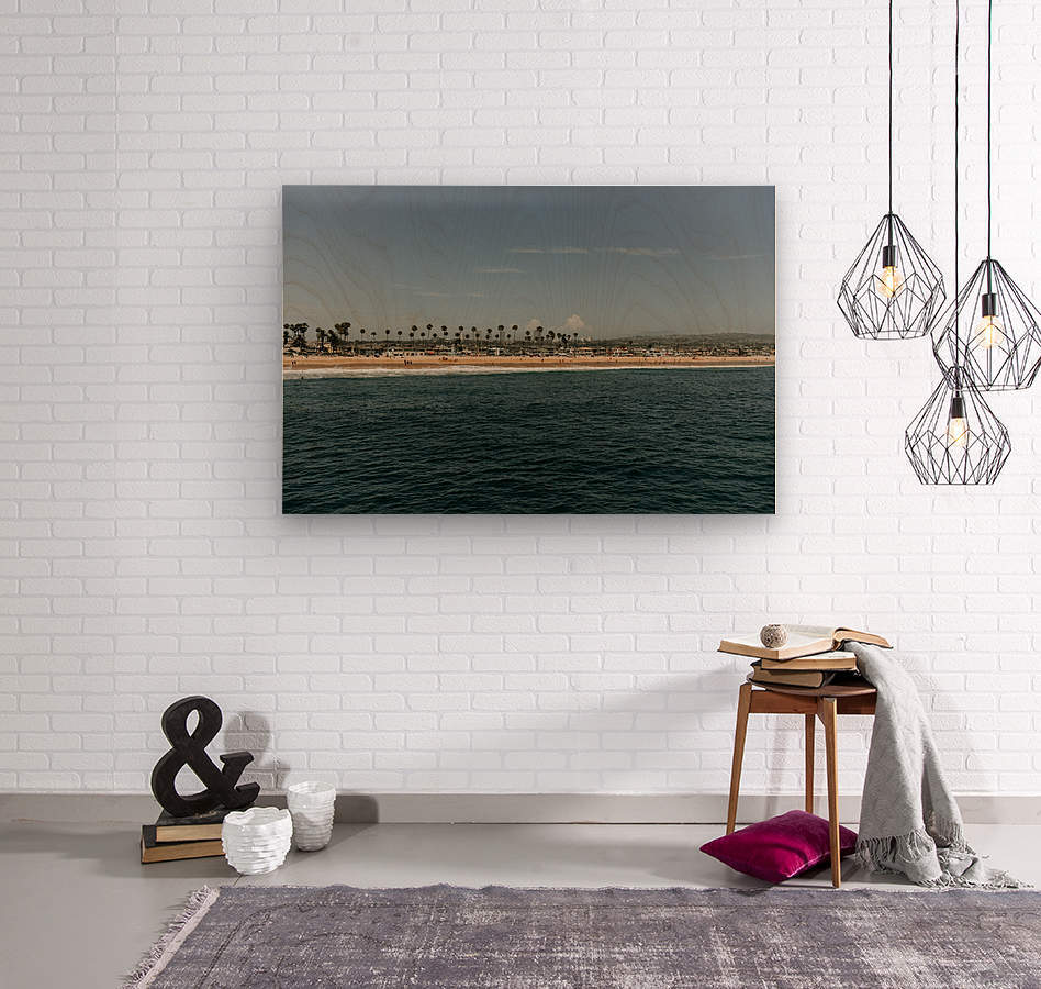 Newport Beach California  Impression sur bois