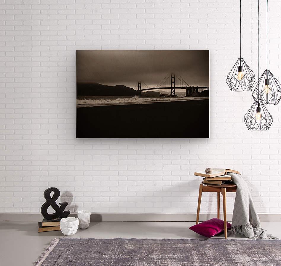 B&W Golden Gate  Impression sur bois