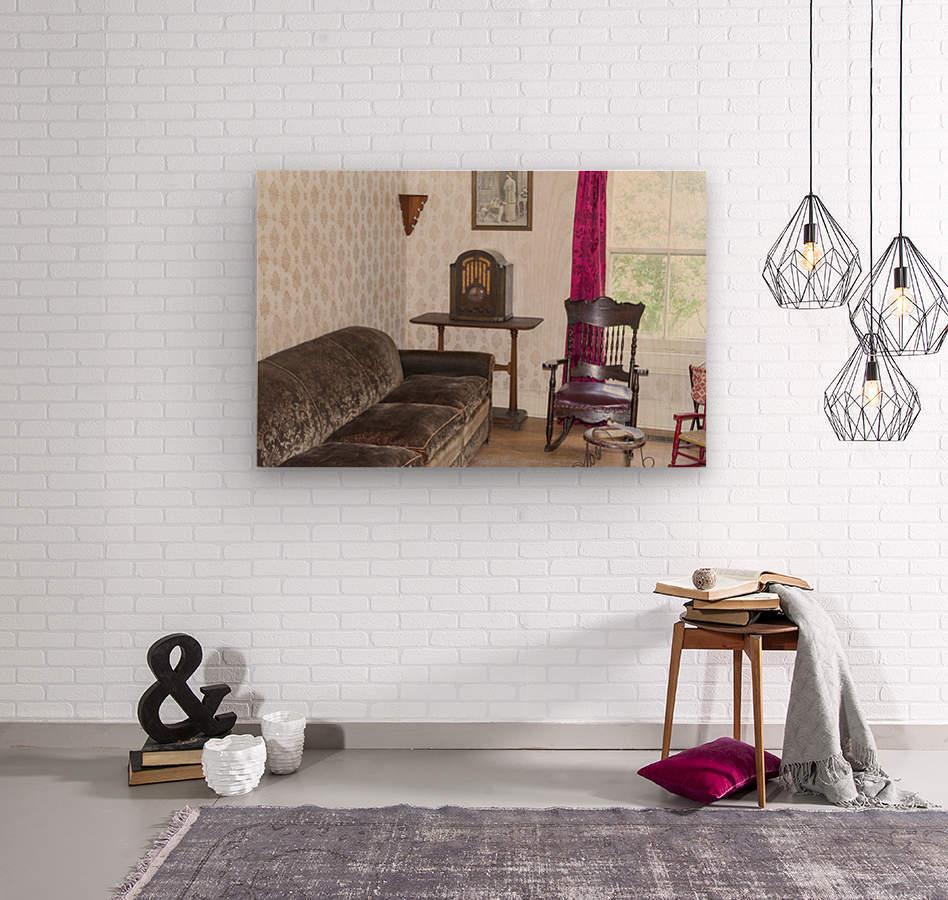 1920s living room  Wood print