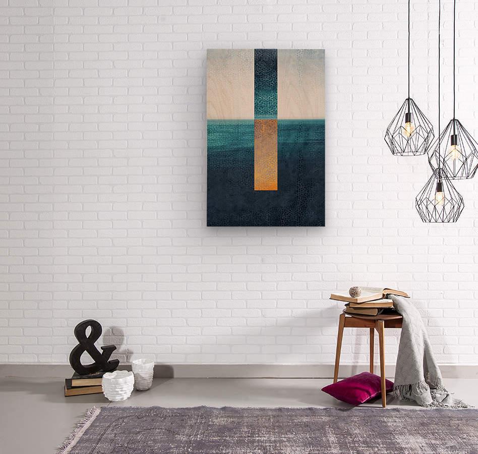 Modern Art I  Wood print